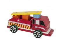 camion-de-pompier-en-bois