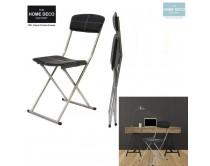 chaise-pliable-pu-noire-m4