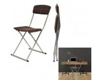 chaise-pliable-pu-marron-m4