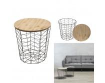 table-filaire-bois-et-metal-noir-motif-chevron-m6