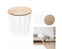 table-filaire-bois-et-metal-blanc-motif-chevron-m6