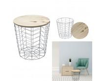table-filaire-bois-et-metal-gris-motif-chevron-m6