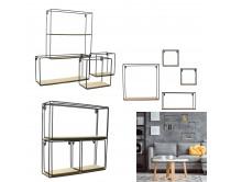 etagere-4-pieces-bois-metal-38x38x10cm-m4