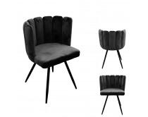 chaise-ariel-velours-noir-m2