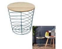table-filaire-bois-et-metal-cyclone-bleu-m6