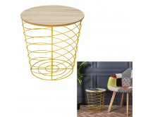 table-filaire-bois-et-metal-cyclone-jaune-m6