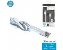 cable-chg-rapide-2a-sync-mfi-iphone-plat-blanc-m12